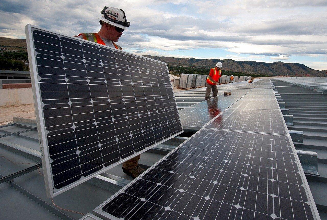 Roof-Mounted Solar Installation