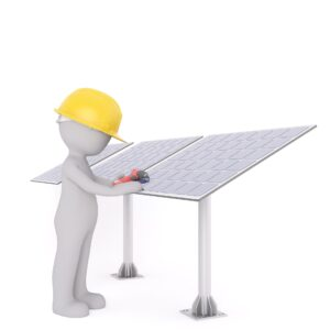 mounting solar panels on the ground