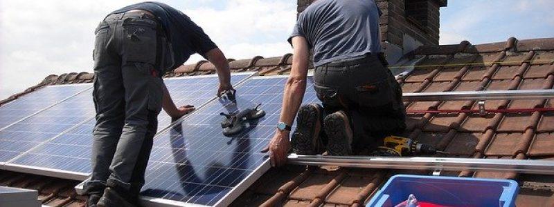 roof mounted solar panel installation